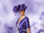 La Femme Headdress Purple Glam