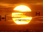 TIE Fighters at Sunset