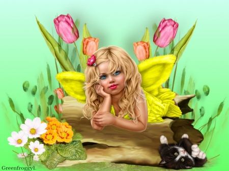 RESTING FAIRY - CUTE, FAIRY, IMAGE, LITTLE