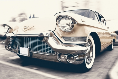 Classic Cadillac - cadillac, tyre, rare, lights, gold, car, auto, Classic Cadillac, classic, vintage