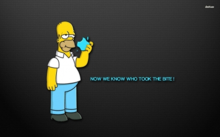 now we know - homer, apple, man, simpson