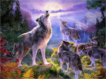 Wolf Pack Fantasy Abstract Background Wallpapers On Desktop Nexus Image 2379777