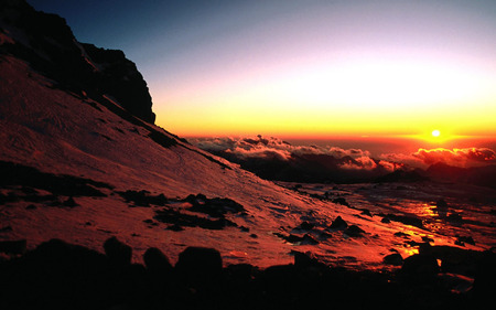 Sunset Image - sunrise, sunset, sky, nature, mountain, sun