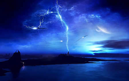 Storm of Solar - beauty, cool, awesome, blue