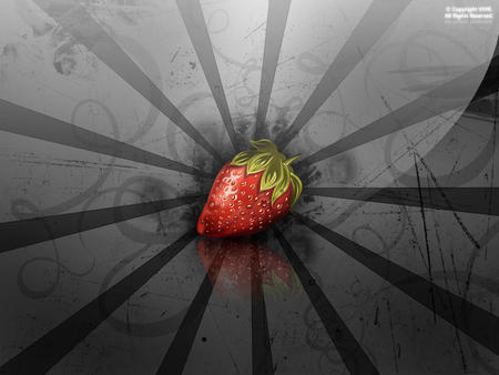 Strawberry Madness - fruit, 3d, cool, abstract