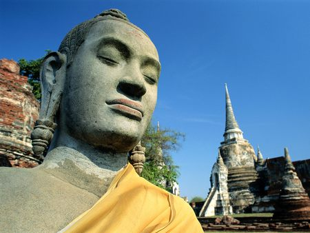 Buddha Statue Wat Tower - tower, hindu, buddha, asian, places, peace, religion, buda