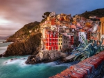 Coastal City of Riomaggiore in Italy