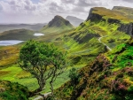 Green Quiraing Mountains In Scotland