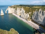 Cliffs in Normandy, France