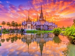 THAILAND CASTLE at SUNSET