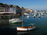 Boats in Sauzon, Brittany, France