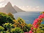 SAINT LUCIA COUNTRY in the CARIBBEAN ISLAND