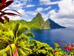 MOUNTAIN PEAKS from CARIBBEAN ISLAND