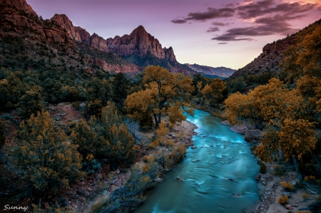 Sunset At Zion National Park Sunsets Nature Background
