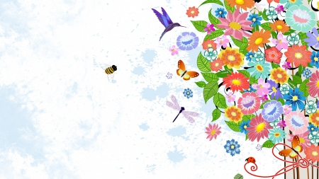 Summer Jubilee Flowers Nature Background Wallpapers On Desktop