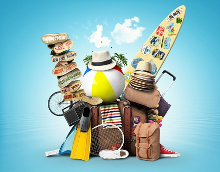 Travel and vacation - Plimsoll, Plimsoll shoe, Suitcase, Plimsolls shoes, Ball, Holiday, Radio