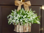 Basket Of Lily Of Valley Door