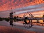 Bridge at Sunset in Netherlands