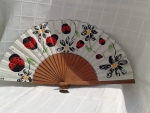 Lady Bug Hand Fan