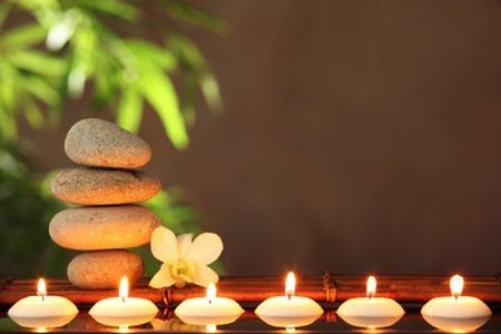 Zen Stones And Candles 3d And Cg Abstract Background