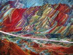 Rainbow Mountain in China