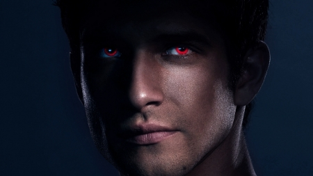 Teen Wolf (TV Series 2011–2017) - red, man, fantasy, tv series, werewolf, face, scott, eyes, actor, Tyler posey