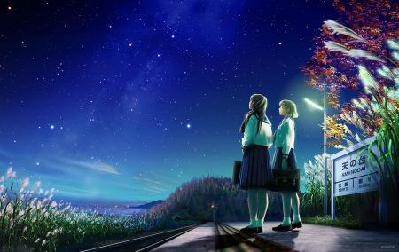 Night Sky Other Anime Background Wallpapers On Desktop Nexus Image 2384370