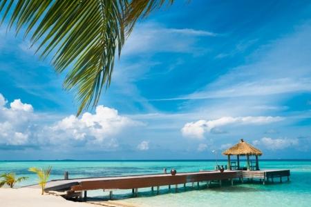 Maldivian house on a tropical island beaches nature - Kuramathi wallpaper ...