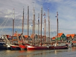 Sailboats in Volendam, Netherlands