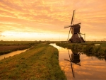 Sunset in Netherlands
