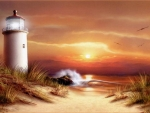 Golden Skies Lighthouse