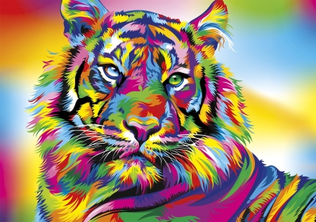 Colorful tiger fantasy abstract background wallpapers on desktop nexus image 2385042 - 1000 color wallpapers ...