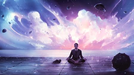 Meditation fantasy abstract background wallpapers on - Meditation art wallpaper ...