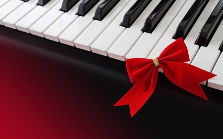 Piano - dark red, piano, music, decor