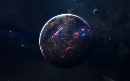 Chimera - planets, digital art, 3d, space, stars