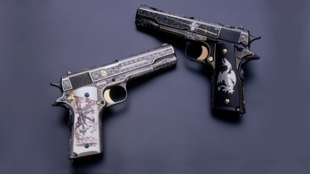 M1911 Hand Guns - M1911 Hand Guns, weapons, M1911, unique, custom, Hand Guns