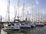 Sailboats in Le Havre, France