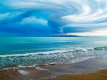 Forming Tornado Above the Sea,