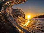 Wind Wave in the Sunset