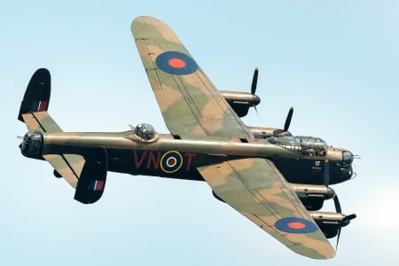WW2 Lancaster Bomber - british, ww2, military, aircraft