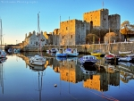 Boats in Castletown, UK