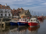Harbor in Whitby, UK