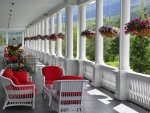 Veranda in New Hampshire, USA