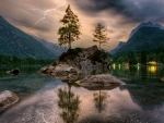Thunderstorm Over Hintersee Lake