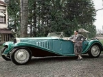 Jean Bugatti And Roadster 1932