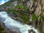 Train in the Swiss Alps