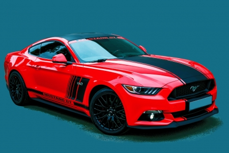 Ford Mustang GT - mustang, red, gt, car, ford, racing, sports
