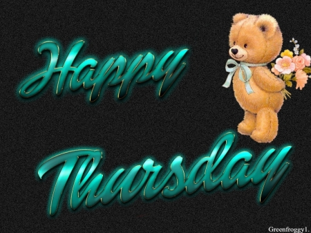 HAPPY THURSDAY - THURSDAY, HAPPY, COMMENT, CARD