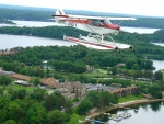 Seaplane above Gull Lake