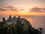 Sunset on Dunluce Castle, N. Ireland